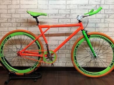 BARU fixie bike 700c oscar basikal bicycle BESAR