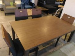 Walnut 6 seater dining set