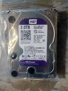 WD Hard Drive purple 2tb
