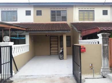 Cahaya masai 2 storey middle cost house, full loan, bumi lot
