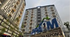 Ppa1m Apartment Kepong nearby LRT kitchen cabinet