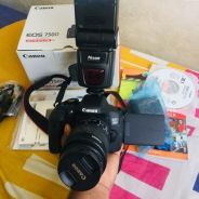 Canon 750d with 18-55mm fullbox speedlight