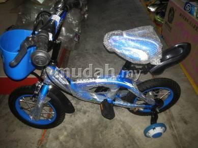 Children bicyckle blue
