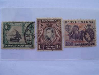 Kenya-Uganda-Tanganyika Used Stamps - Lot#1