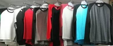 Borong Baju Kosong Raglan Tgn Panjang