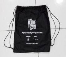 I Love Georgetown cloth drawstring bag