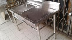 4FT Stainless Steel Sink wt Side Table TG872