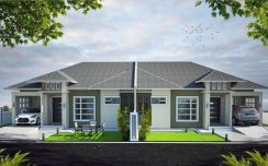 Rumah Berkembar, Semi D 45% Kok Lanas 800m dari Jalan Utama KB-K.Krai