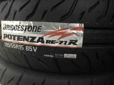195/55/15 Bridgestone RE71R Tire Honda LAST 2 PCS