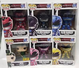 Funko Pop Power Rangers The Movie Set