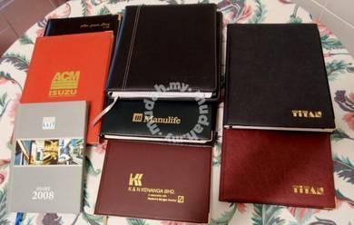 VINTAGE LOT of 8 Management Diaries (1996-2008)