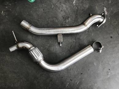 Stainless steel downpipe mustang 2.3 eco boost