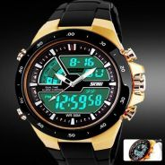 Best Skmei Quartz SiliconeArmy Waterproof 50M -073