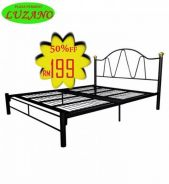 Queen size metal bed (M-3V-109)20/06