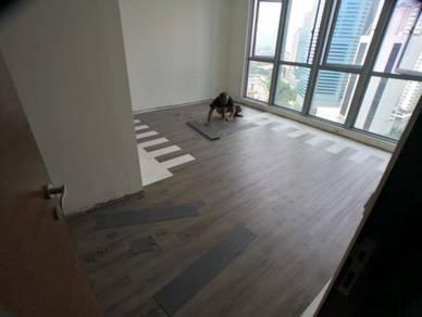 Vinyl Floor Lantai Timber Laminate PVC Floor Q241
