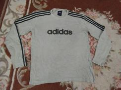 ADIDAS T SHIRT longs leeve embroidered size L