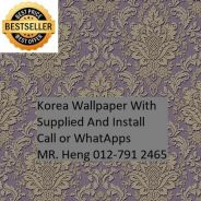 PVC Vinyl Wall paper with Expert Install 65rx