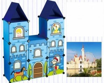 Lovely Kids Cartoon Castle Cube Organizer