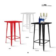 Rome metal bar table