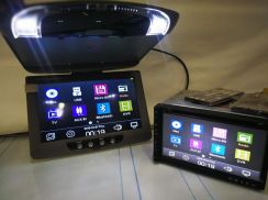 Car dvd player & roof monitor