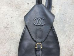 CC Chanel logo leather sling bag unisex vintage