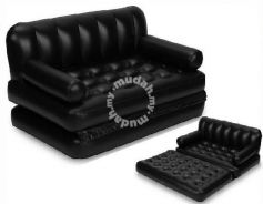5 in1 Inflatable Air Sofa Queen Double Bed Mattres