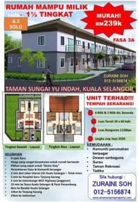 Landed house 1 1/2 - Storey Taman Sungai Yu Indah , Kuala Selangor