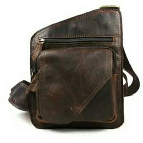 Men Genuine Leather Sling Bag. BDM000001