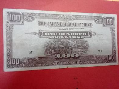 Duit zaman Jepun 100 Dollar