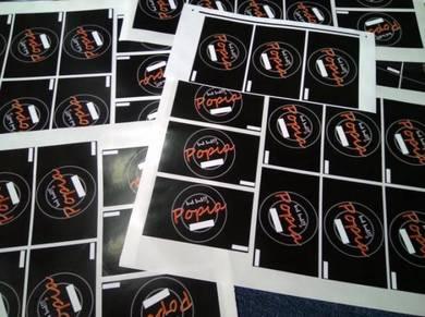 Printing Cetak Sticker Label Custom Design