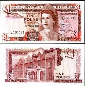 Gibraltar 1 Pound 1988 P 20 UNC
