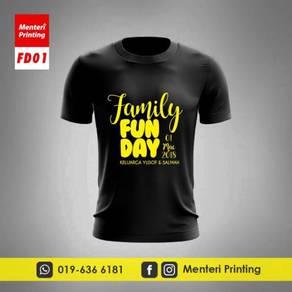 Baju Family Day Printing Tshirt Cetak FD01