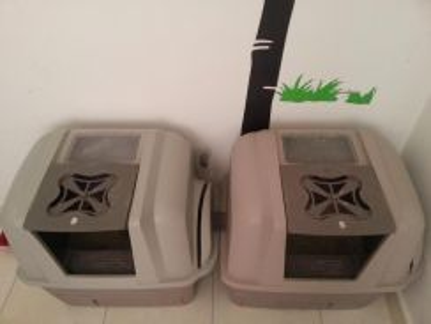 Used Cat Litter Box - Smart Sift 1 Left
