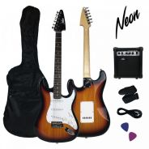Taloha NEON Electric Guitar + Amp < 4 Colours