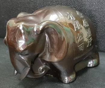 Solid Brass Piggy Bank of Elephant