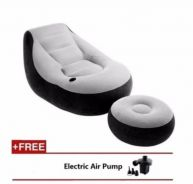 Single Air Sofa Footrest Set With Cup Holder