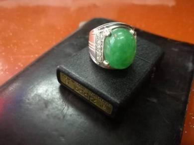 Cincin Perak Jade Imperial