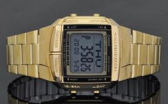 Casio Data Bank 10 Year Batt. Gold Watch DB-360G-9