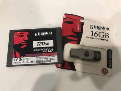 Kingston 16GB Pendrive dan ajar cara format win10