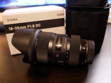 Sigma 18-35mm f1. 8 DC HSM Canon
