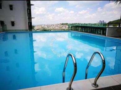 Freehold lake vista btho cheras balakong 1213sqft renovated new unit