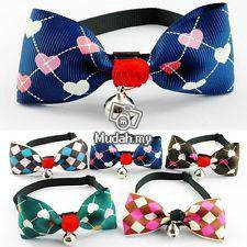 3 pcs Pet collar bowtie with bell for cat and dog