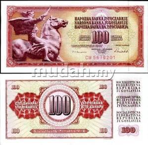 Yugoslavia 100 dinara 1986 p 90 unc