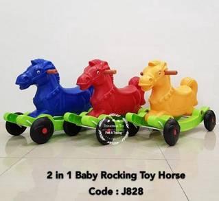 2 in 1 Toy Horse Rocking Twisting Car