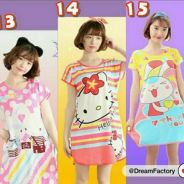 Cartoon ice silk short sleeve pyjamas