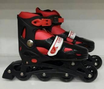 Kasut roda Merah rollerblade kids Adjustable