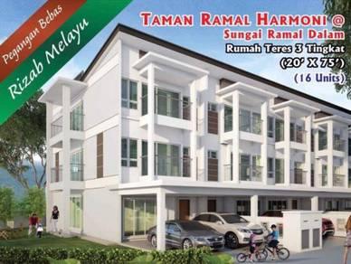 3- Storey Terrace House Taman Ramal Harmoni, Sungai Ramal Dalam