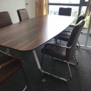 Conference / Meeting Table and leather chairs