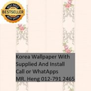 Pretty Wallcovering with Installation huiui7897
