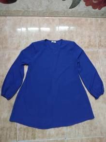 Baju blouse biru